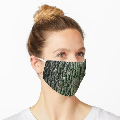 Baumrinde Foto, Baumrinde, grüne Natur Maske