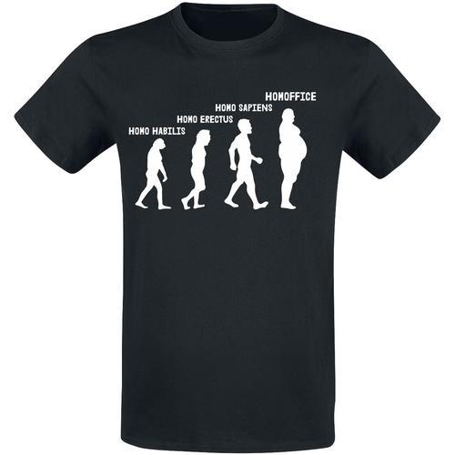 Homoffice Herren-T-Shirt - schwarz