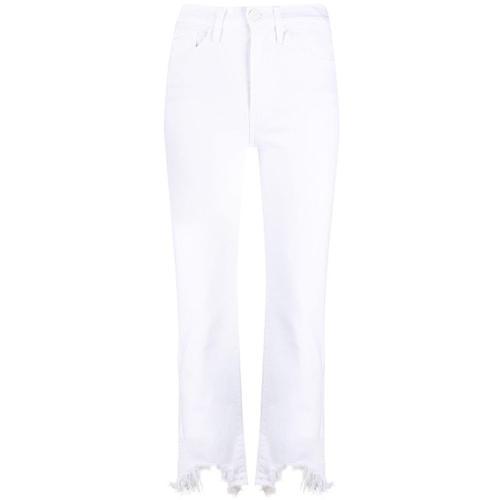 3x1 Jeans mit ausgefranstem Saum