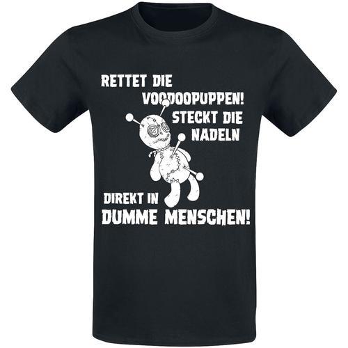 Rettet die Voodoopuppen! Herren-T-Shirt - schwarz