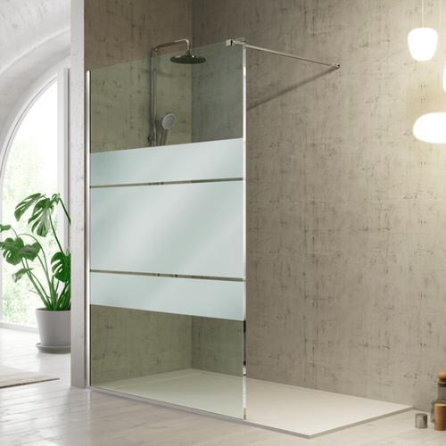 Duschwand FRESH - 80 cm Glas 8mm mit Sichtschutz