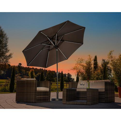 Schneider Schirme Sonnenschirm Blacklight it, ohne Schirmständer grau Sonnenschirme Gartenparty Aktionen Themen