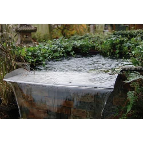 Ubbink Wasserfall Brisbane silberfarben Teichbrunnen Teiche Garten Balkon