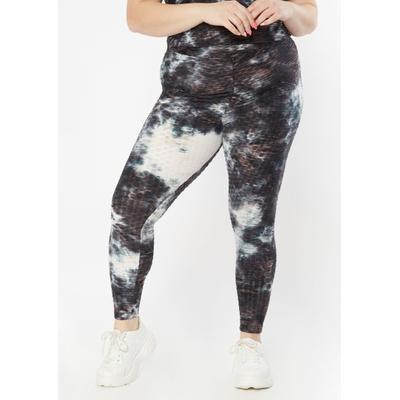 Rue21 Womens Plus Size Black Tie Dye Honeycomb Crossover Leggings - Size 4X