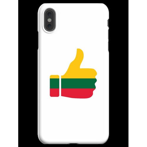 Fahnen-Daumen von Litauen iPhone XS Max Handyhülle