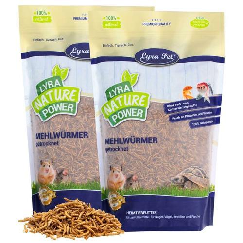 2 x 10 kg Lyra Pet® Mehlwürmer getrocknet