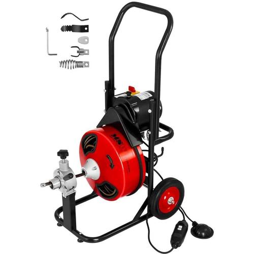 MSW - Rohrreinigungsmaschine Rohrreinigungsgerät Rohrreiniger Spirale 370 U Min 390 W