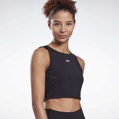 Reebok Women's Perform Perforated Crop Top in Black Size S - Training Apparel