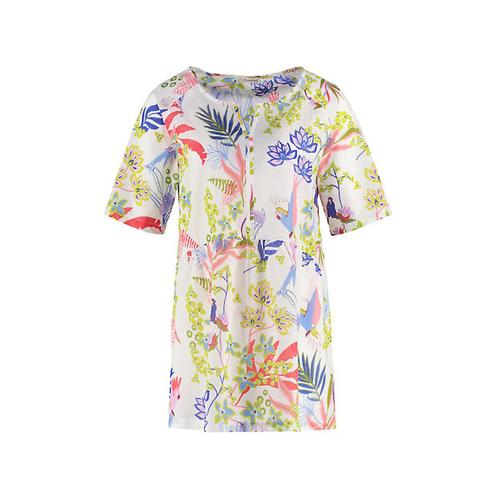 Deerberg Damen Tunika Gemalie weiß bedruckt Bluse