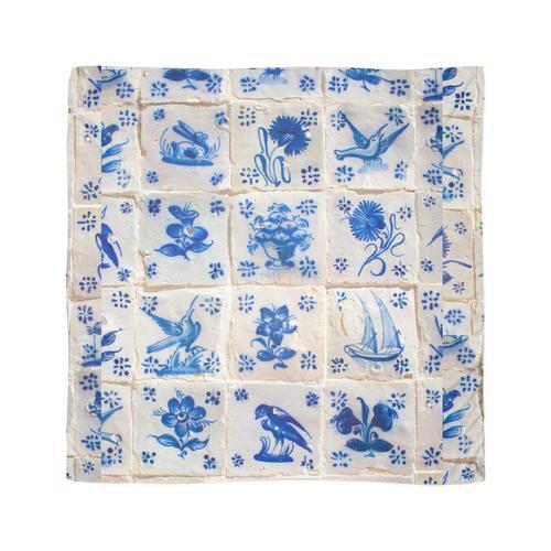 handbemalte portugiesische Fliesen Tuch