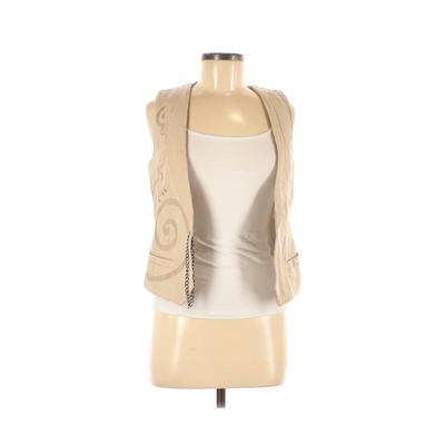 Assorted Brands Tuxedo Vest: Tan Solid Jackets & Outerwear - Size Small