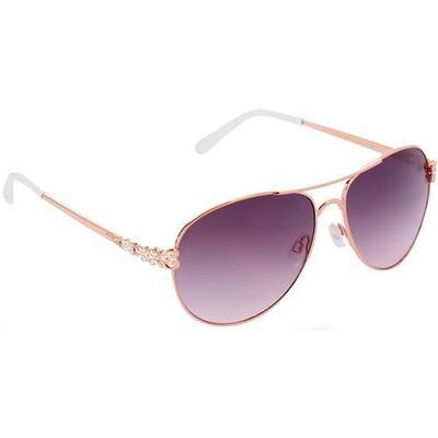 Unionbay Womens Silver Metal Square Frame Sunglasses