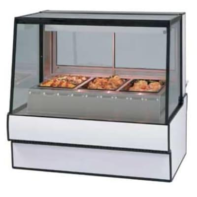 "Federal SG7748HD 77.13"" Full Service Hot Food Display - Straight Glass, 120v, Black"