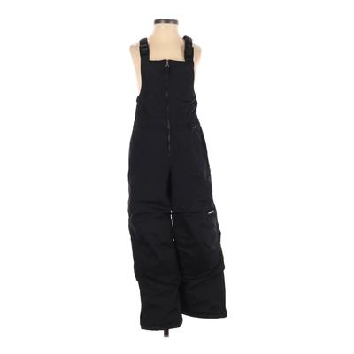 Lands' End Snow Pants With Bib - Mid/Reg Rise: Black Sporting & Activewear - Size 10