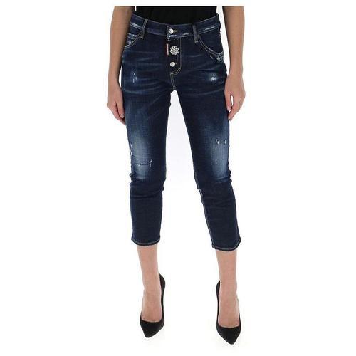 DSquared² Crop Jeans mit abgenutztem Effekt