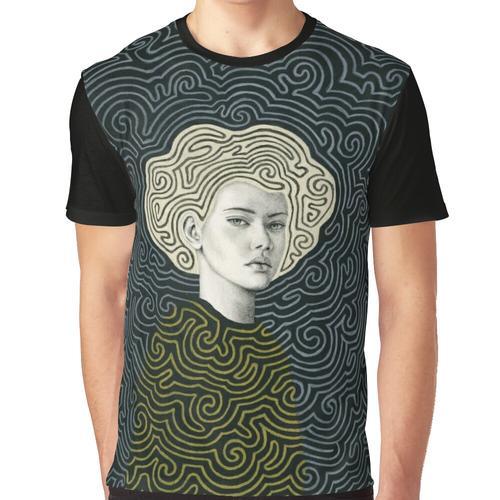 Marker und Gouache auf Papier Grafik T-Shirt