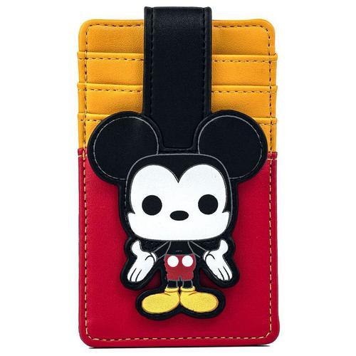 Micky Maus Pop! by Loungefly - Micky Karten-Etui - schwarz rot weiß - Offizieller & Lizenzierter Fanartikel