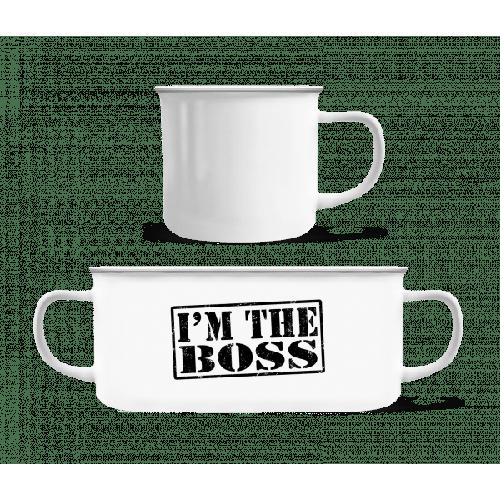 I'm The Boss - Emaille-Tasse