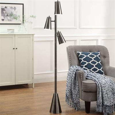 Emile Floor Lamp Nickel , Nickel