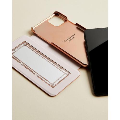 Ted Baker Iphone 11 Pro Max-hülle In Glitzerdesign Mit Spiegel