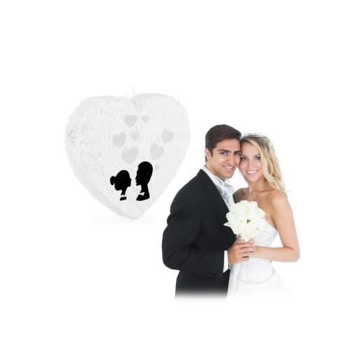Pinata Hochzeit weiß
