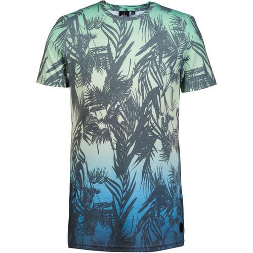 WLD Macaroni Union T-Shirt Herren in blue green, Größe L
