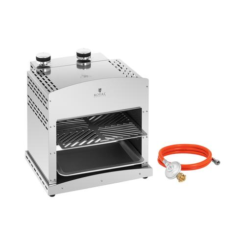 Royal Catering Set Oberhitzegrill mit Druckminderer - 7.800 W - 800 °C RCGGS-27-SET-1