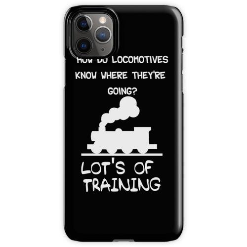 Lustiger Dampfmaschinen-Witz für Lokomotiven-Eisenbahnfans iPhone 11 Pro Max Handyhülle