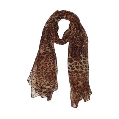 Riah Fashion Scarf: Brown Animal Print Accessories