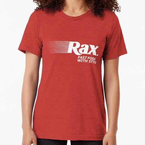 Rax Restaurant Design | 80s and 90s Defunct Restaurant Tri-blend T-Shirt