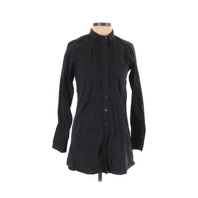 Ines de la Fressange for Uniqlo - Ines de la Fressange for Uniqlo Casual Dress - Shirtdress: Black Solid Dresses - Used - Size X-Small