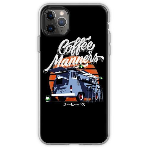 Kaffee-Manieren der Kaffee-Bus Flexible Hülle für iPhone 11 Pro Max