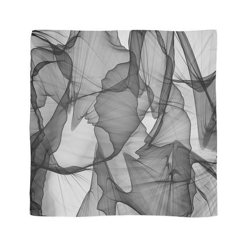 Schwarzweiss-Seide Tuch