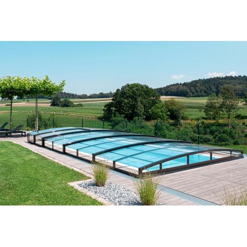 Poolüberdachung / Schwimmbeckenüberdachung schienenlos / ohne Schienen SkyCover® Liberty 4.5x8.5m