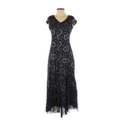 Candalite Cocktail Dress - Formal: Blue Dresses - Used - Size Small Petite