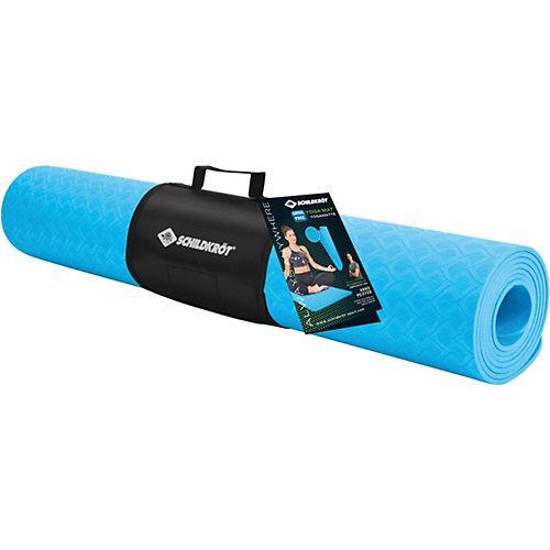 Yogamatte 4mm TPE blue blau