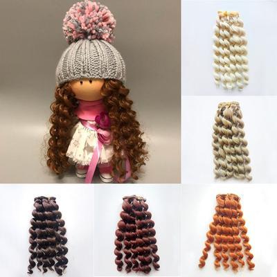 Extensions de cheveux frisés pour toutes les poupées, perruque en fibre résistante à la chaleur,