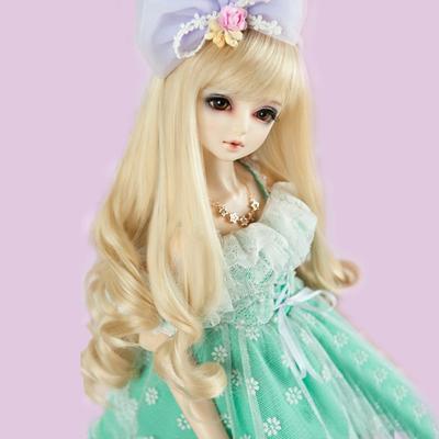 Bjd – perruque longue et bouclée pour poupée BJD SD, cheveux blonds ondulés, plusieurs couleurs,