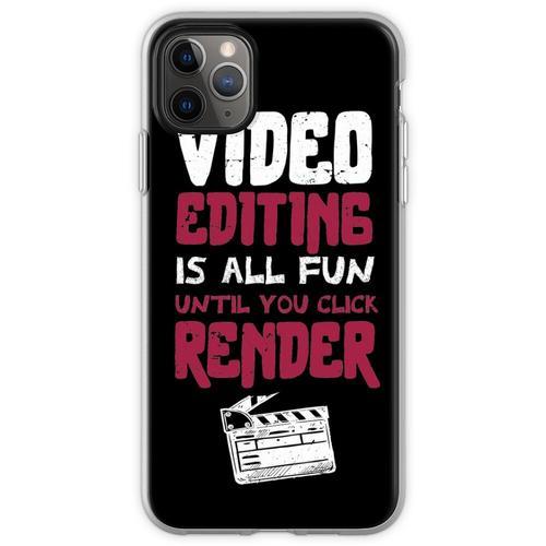 Die Videobearbeitung macht Spaß, bis Sie auf RENDER / Video Edi Flexible Hülle für iPhone 11 Pro Max