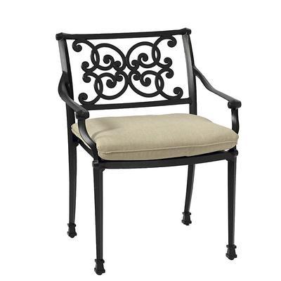 Amalfi Dining Armchair Replacement Cushion Canopy Stripe Red/White Sunbrella - Ballard Designs