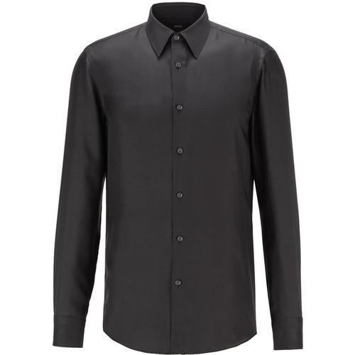 BOSS by Hugo Boss Slim-Fit Hemd aus italienischem Seiden-Twill