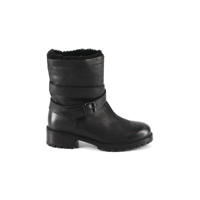 Ross & Snow Boots: Black Solid Shoes - Size 9 1/2
