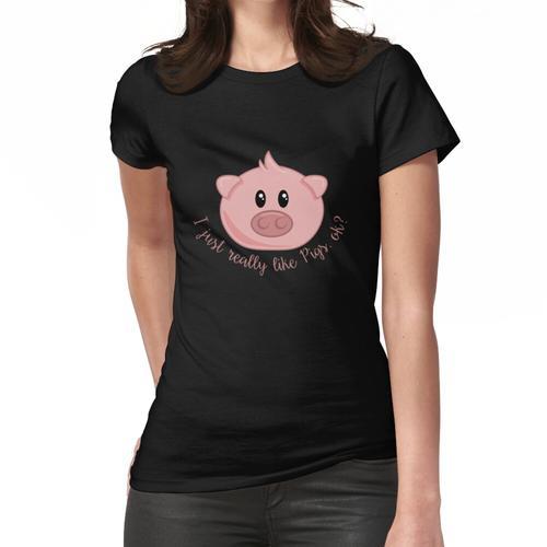 Ich mag Schweine wirklich, okay Hemd Nettes Schwein-Hemd Frauen T-Shirt