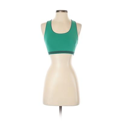 Aerie Sports Bra: Green Solid Activewear - Size X-Small