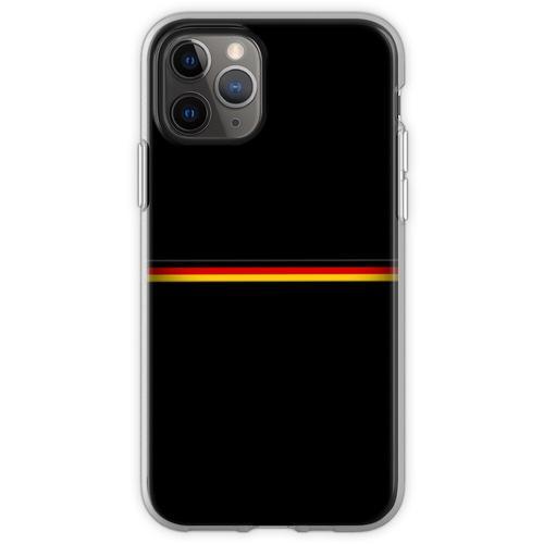 Deutsche Flagge, deutsches Emblem, Flagge von Deutschland, Deutschl Flexible Hülle für iPhone 11 Pro