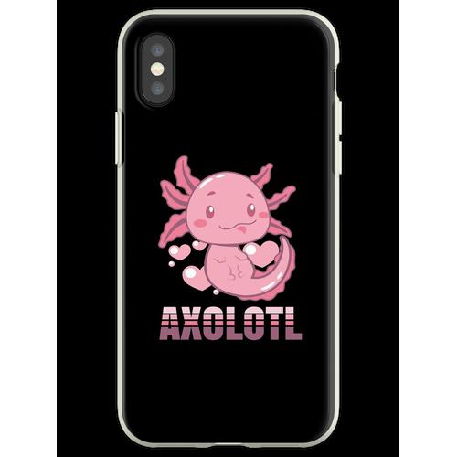 Axolotl Lurch Terrarium Aquarium Lurch Amphibie Flexible Hülle für iPhone XS