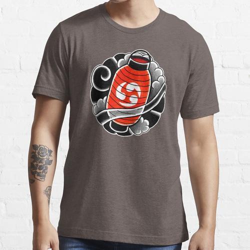 Japanische Laterne in den Wolken Essential T-Shirt