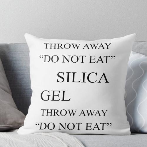Silica Gel Throw Pillow
