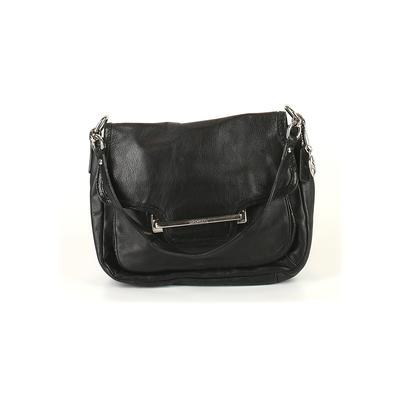 Coach Leather Shoulder Bag: Black Solid Bags