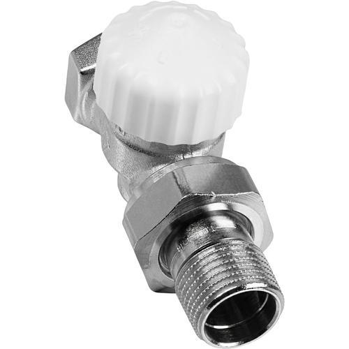 CORNAT Heizkörperthermostat Durchgang, Thermostat Ventil Axial silberfarben Thermostate Heizen Klima